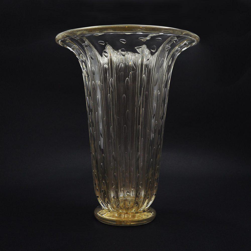 Vaso Cristallo Oro in vetro di Murano