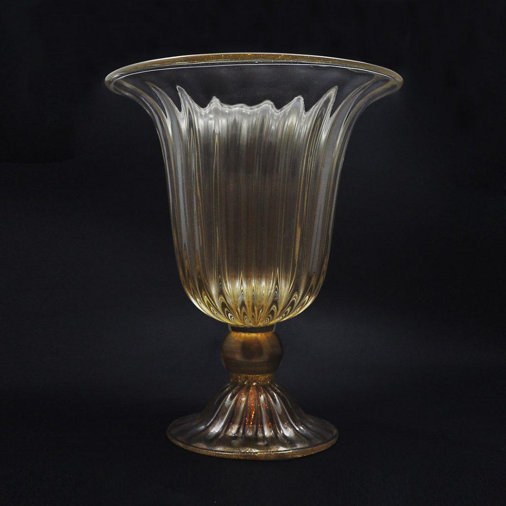 Coppa Alta Cristallo Oro in vetro di Murano