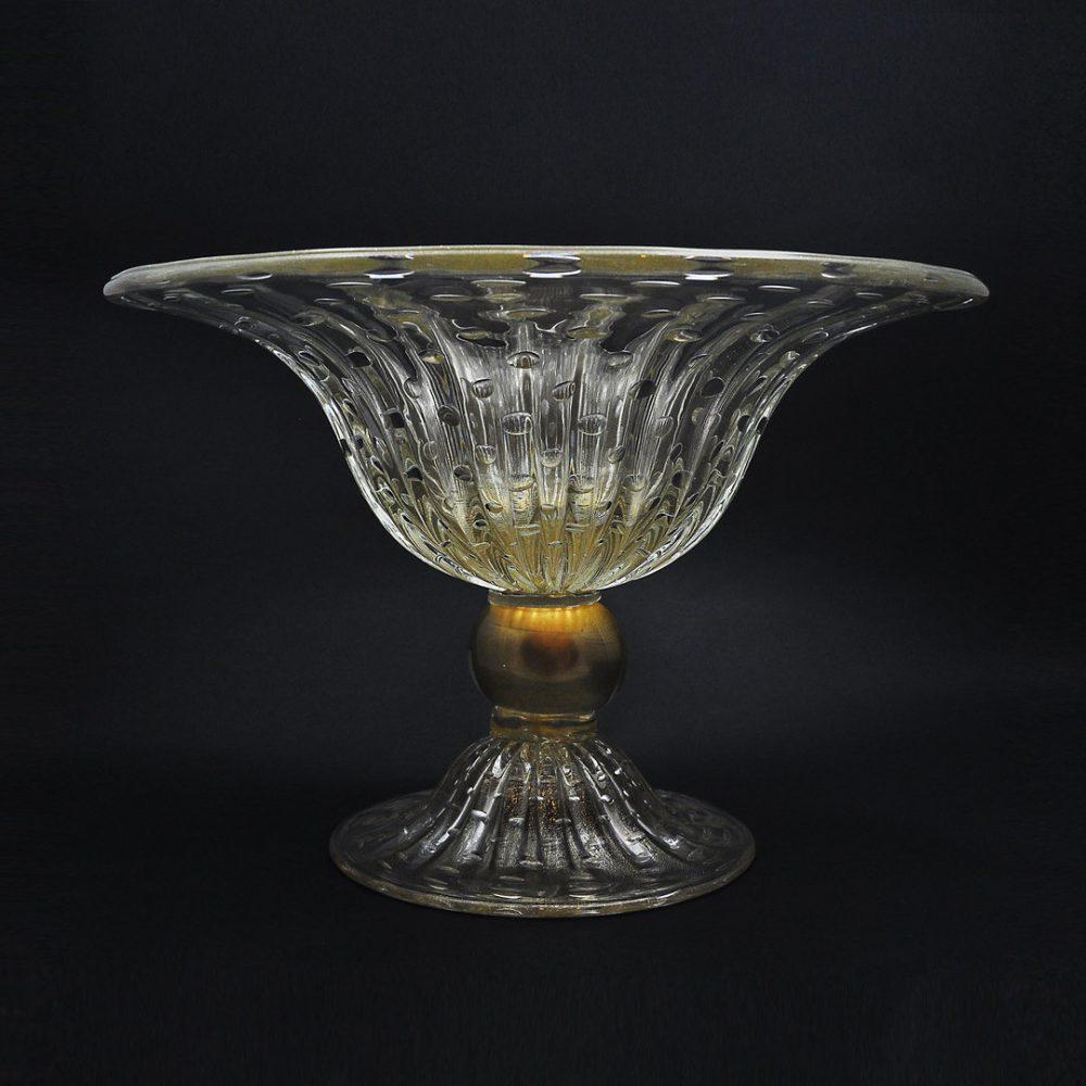 Coppa Larga Cristallo Oro in vetro di Murano