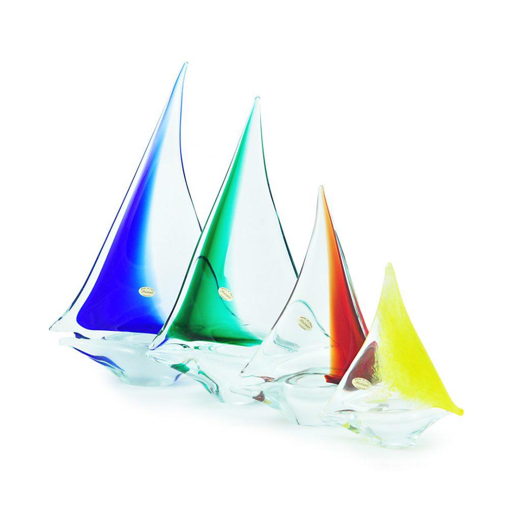 Barca a Vela in vetro di Murano